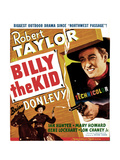 BILLY THE KID, US poster, Robert Taylor, 1941 Prints