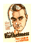 THE CABIN IN THE COTTON, Richard Barthelmess on US poster art, 1932 Poster