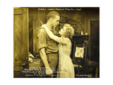 THE HOUSE WITH THE GOLDEN WINDOWS, l-r: Wallace Reid, Cleo Ridgely on lobbycard, 1916 Poster