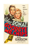 GOODBYE, MR. CHIPS, Robert Donat, Greer Garson, 1939, poster art Poster
