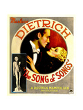 THE SONG OF SONGS, Marlene Dietrich, Brian Aherne on midget window card, 1933 Prints