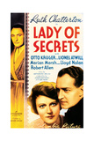 LADY OF SECRETS, US poster art, from left: Lionel Atwill, Ruth Chatterton, Otto Kruger, 1936 Prints