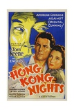 HONG KONG NIGHTS, Tom Keene, Wera Engels, 1935 Poster