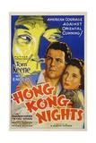 HONG KONG NIGHTS, Tom Keene, Wera Engels, 1935 Poster
