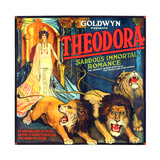THEODORA (aka TEODORA; aka THEODORA, THE SLAVE PRINCESS), Rita Jolivet on 6-sheet poster art, 1919. Poster