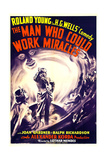 THE MAN WHO COULD WORK MIRACLES, US poster art, from left: Joan Gardner, Roland Young, 1936 Prints