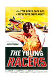 THE YOUNG RACERS, top to bottom: Mark Damon, Luana Anders, 1963. Prints