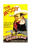 TWO-FISTED LAW, Tim McCoy, 1932 Posters