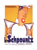 HEARTBEAT, (aka LE SCHPOUNTZ), French poster, Fernandel, 1938 Affiches