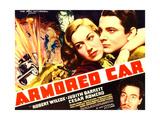 ARMORED CAR, top l-r: Judith Barrett, Robert Wilcox, bottom: Cesar Romero on poster art, 1937 Posters