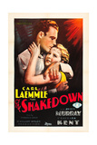 THE SHAKEDOWN, l-r: James Murray, Barbara Kent on poster art, 1929. Posters