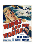 WINGS AND THE WOMAN, top left: Anna Neagle on window card, 1942 Posters