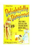 DELIGHTFULLY DANGEROUS, Jane Powell (left), inset: Jane Powell, Ralph Bellamy, 1945 Posters