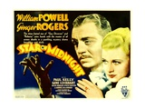 STAR OF MIDNIGHT, from left: William Powell, Ginger Rogers, 1935. Posters
