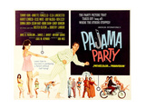 PAJAMA PARTY, on left: Annette Funicello (tugging shirt); fleeing center: Tommy Kirk, 1964 Posters