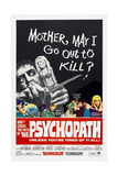 THE PSYCHOPATH, US poster, 1966 Prints
