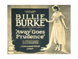AWAY GOES PRUDENCE, Billie Burke on title lobbycard, 1920 Prints