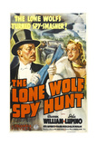 THE LONE WOLF SPY HUNT, US poster art, from left: Warren William, Ida Lupino, 1939 Posters