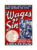 THE WAGES OF SIN, 1938. Prints