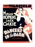 DANCERS IN THE DARK, from left on US poster art: Jack Oakie, Miriam Hopkins, 1932 Poster