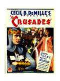 THE CRUSADES, from left: Henry Wilcoxon, Loretta Young on midget window card, 1935. Poster