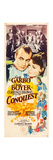 CONQUEST, l-r: Charles Boyer (as Napoleon Bonaparte), Greta Garbo on US insert poster, 1937 Art