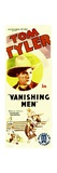 VANISHING MEN, Tom Tyler on insert poster, 1932. Posters