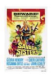 SAVAGE SISTERS, US poster, from left: Gloria Hendry, Cheri Caffaro,  Rosanna Ortiz, 1974. Prints