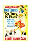 SO THIS IS PARIS, poster art, 1926 Art