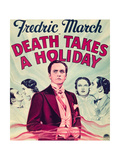 DEATH TAKES A HOLIDAY, center: Fredric March on window card, 1934. Prints