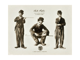 A DOG'S LIFE, Charlie Chaplin on lobbycard, 1918 Premium Giclee Print