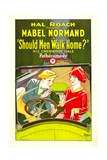 SHOULD MEN WALK HOME, from left: Creighton Hale, Mabel Normand, 1927. Poster