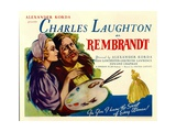 REMBRANDT, right: Charles Laughton, 1936 Posters