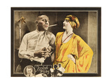 FOOLISH WIVES, l-r: Erich Von Stroheim, Maude George on lobbycard, 1922. Art