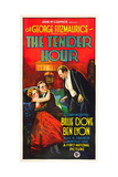 THE TENDER HOUR, l-r: Billie Dove, Ben Lyon, Montagu Love on poster art, 1927. Prints