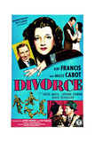 DIVORCE, US poster, top from left: Bruce Cabot, Kay Francis, 1945 Art