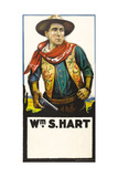 William S. Hart on poster art, early ca. 1900s Prints
