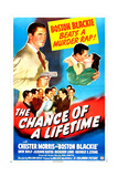 THE CHANCE OF A LIFETIME, US poster, Chester Morris, Jeanne Bates, 1943 Posters
