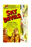 SKY DEVILS, bottom left from left: William Boyd, Spencer Tracy, 1932. Prints