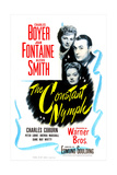 THE CONSTANT NYMPH, US poster, from top: Joan Fontaine, Charles Boyer, Alexis Smith, 1943 Prints