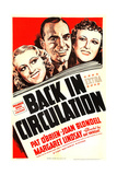 BACK IN CIRCULATION, from left on US poster art: Joan Blondell, Pat O'Brien, Margaret Lindsay, 1937 Print