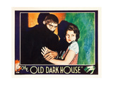 THE OLD DARK HOUSE, l-r: Boris Karloff, Lilian Bond on lobbycard, 1932. Prints