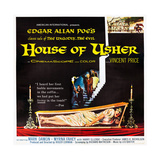 HOUSE OF USHER, (aka THE FALL OF THE HOUSE OF USHER), 1-sheet poster art by Reynold Brown, 1960 Print