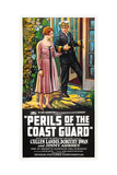 PERILS OF THE COAST GUARD, l-r: Dorothy Dwan, Cullen Landis on poster art, 1926. Print