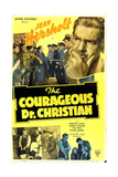 THE COURAGEOUS DOCTOR CHRISTIAN, US poster, top right: Jean Hersholt, 1940 Poster