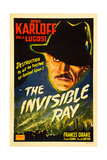 THE INVISIBLE RAY, Boris Karloff on 1948 re-release poster), 1936. Posters