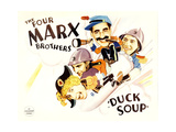Duck Soup, Harpo Marx, Zeppo Marx, Groucho Marx, Chico Marx, 1933 Prints