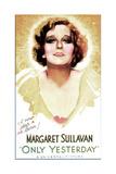 ONLY YESTERDAY, US poster, Margaret Sullavan, 1933 Prints