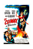 THE CLIMAX, US poster, bottom left from left:  Turhan Bey, Susanna Foster, 1944 Posters