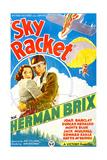 SKY RACKET, US poster art, from left: Joan Barclay, Bruce Bennett (aka Herman Brix), 1937 Umělecké plakáty